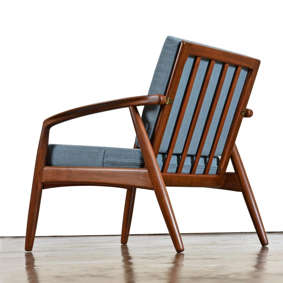 Mid-Century Modern Svend Madsen Beech Wood Lounge Chair3