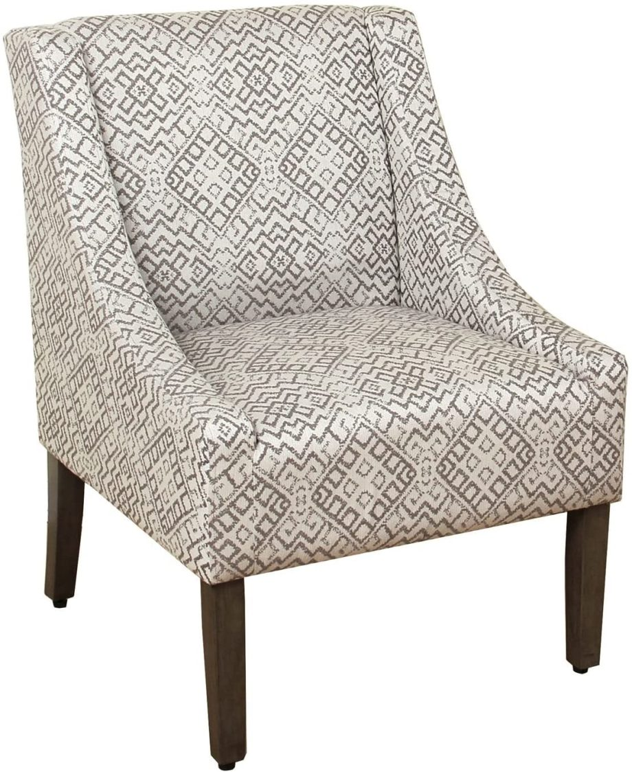 Modern Swoop Arm Accent Chair-1