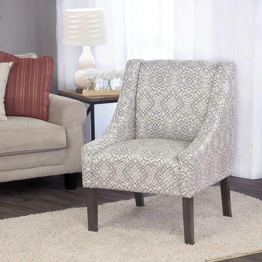 Modern Swoop Arm Accent Chair-2