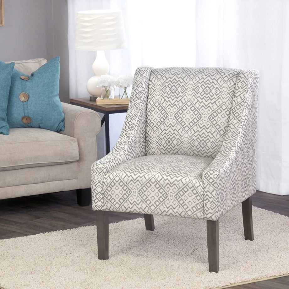 Modern Swoop Arm Accent Chair-3
