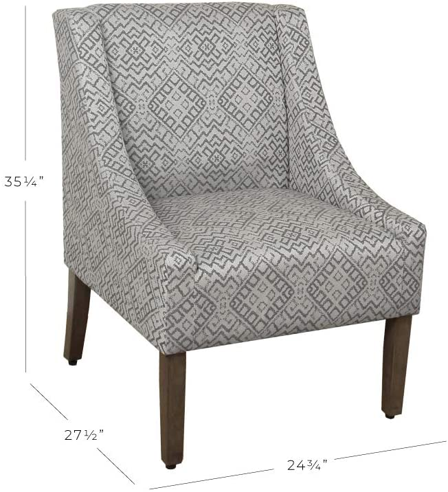 Modern Swoop Arm Accent Chair-5